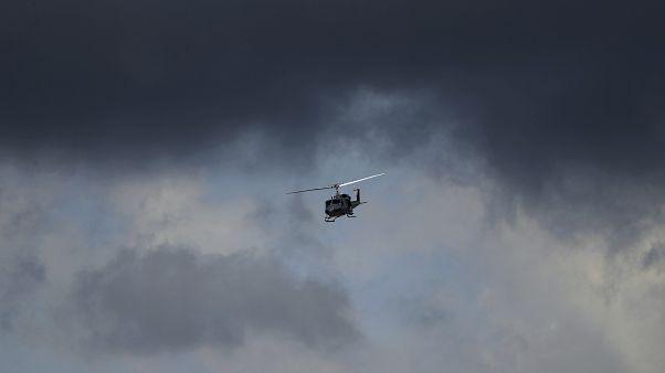 Kolombiya'da askeri bir helikopter