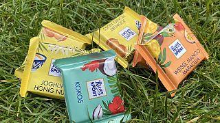 Mini-Ritter Sport Schokolade Sommerversion - im geschützten Quadrat-Format