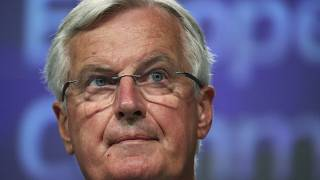 European Union's chief Brexit negotiator Michel Barnier gives a news conference after Brexit talks, in Brussels, Belgium, Friday, June 5, 2020.