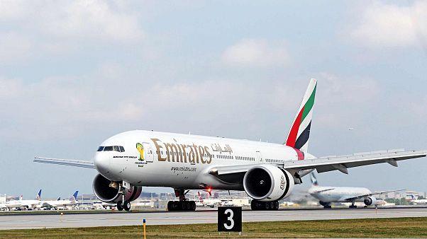 طائرة تابعة لشركة طيران الإمارات، شيكاغو، الثلاثاء 5 أغسطس 2014.
