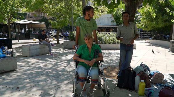 Refugiados sem apoios em Atenas