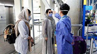 سنجش دمای بدن مسافران در ایران