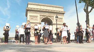 Protesto dos guias turísticos de Paris
