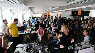 Szerkesztőségi állománygyűlés az Indexben 2020. július 23-án