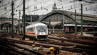 A Deutsche Bahn train in Cologne.