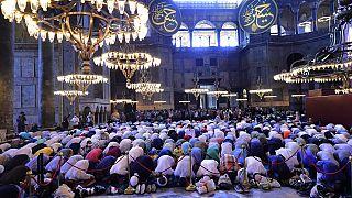 Reações políticas à oração de sexta-feira na Santa Sofia