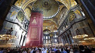 Ayasofya'nın camiye dönüştürülmesi sonrası Yunanistan'dan Türk mallarını boykot çağrısı