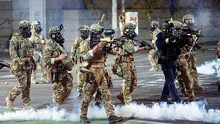 نیروهای امنیتی در شهر پورتلند آمریکا
