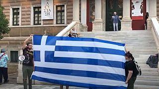 Ayasofya'nın ibadete açılması Atina ve Selanik'te protesto edildi: 'Türkler İstanbul'u 2. defa aldı'