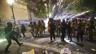 Proteste nach Gerichtsentscheidung in Portland, ein Schwerverletzter