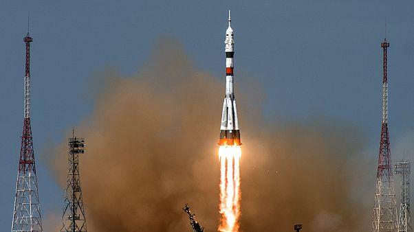 مركبة فضائية روسية تم إطلاقها من كزاخستان أبريل الماضي