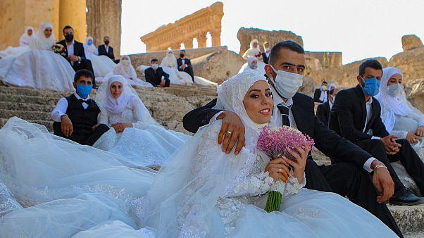 صورة من حفل الزفاف في بعلبك