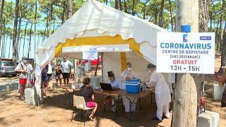 شاهد: اختبارات كورونا بالمجان على شاطئ  مدينة فرنسية