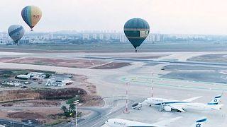 پرواز بالنها بر فراز فرودگاه بن گورین- تل آویو