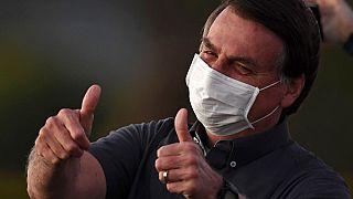 Bolsonaro am 20. Juli in seinem Regierungssitz in Brasilia.