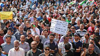 من اضرابات المعلمين في الأردن