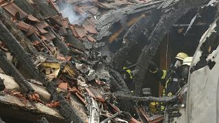 The plane crashed into a family home in Western Germany.