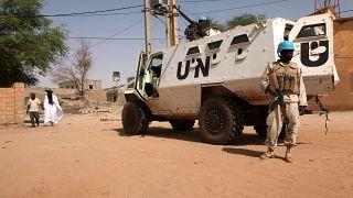 جندي من القوات الدولية لحفظ السلام في مالي