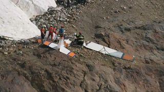 İsviçre Alplerinde uçak kazası