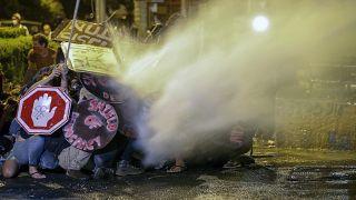 Противостояние полиции и протестующих у резиденции премьер-министра Израиля в Иерусалиме