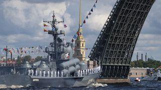 Главный парад в честь Дня ВМФ РФ в Санкт-Петербурге