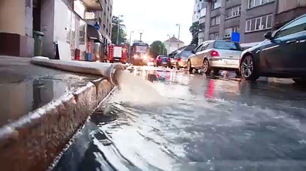 A horvát főváros három napja küszködik az árvízzel.