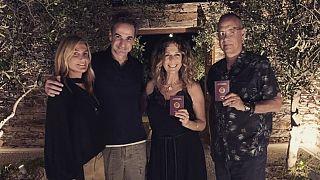 Yunanistan Başbakanı Miçotakis Tom Hanks ve eşi ile bir araya geldi