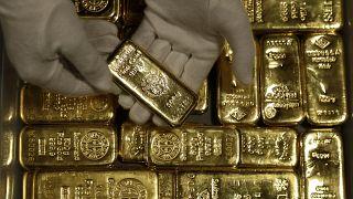 سبائك من الذهب في ألمانيا (أرشيف)