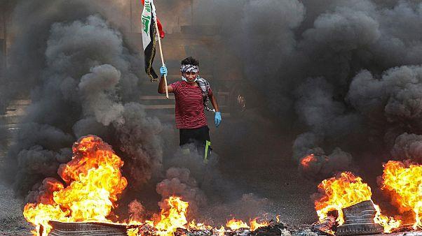 تظاهرات در میدان تحریر بغداد