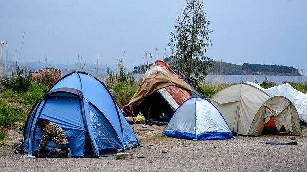 پناهجویان در جزیره لسبوس یونان