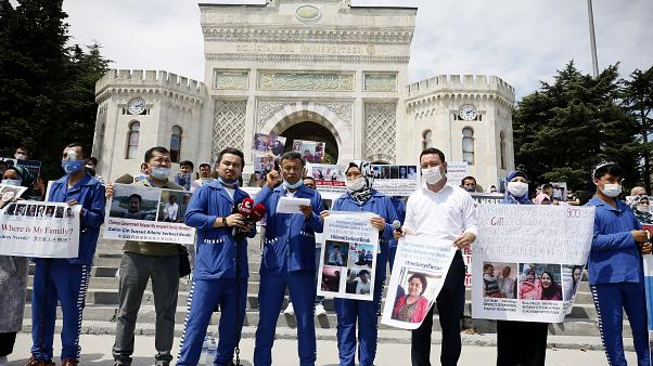 İstanbul'da Çin'e karşı protesto