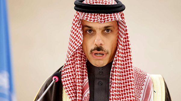 الأمير فيصل بن فرحان آل سعود، وزير خارجية المملكة العربية السعودية في المقر الأوروبي للأمم المتحدة في جنيف، سويسرا، الاثنين 24 فبراير 2020.