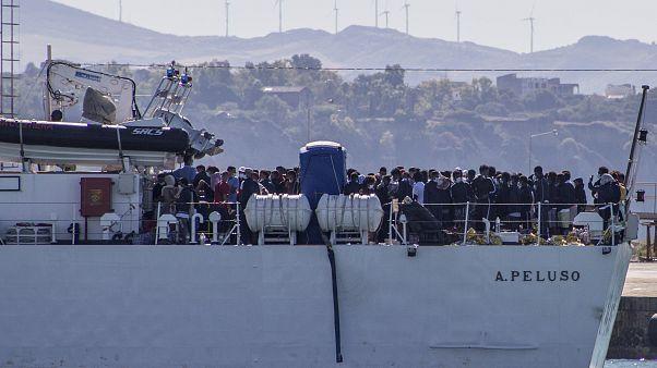 Αφίξεις προσφύγων-μεταναστών στην Λαμπεντούζα