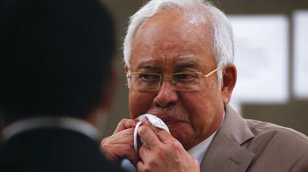 L'ancien Premier ministre malaisien Najib Razak au complexe de la Haute Cour de Kuala Lumpur, Malaisie, le mardi 28 juillet 2020