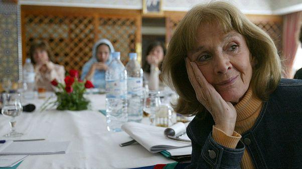 """Gisele Halimi photographiée le 6 mars 2004 à Fès au Maroc lors d'un colloque intitulé """"Rencontre des femmes des deux bords de la Meditérrannée"""""""