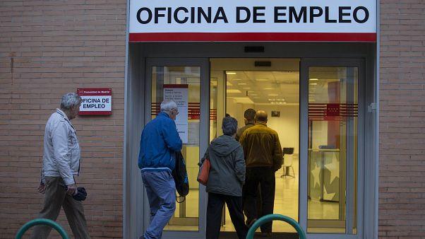 Exterior de una oficina de empleo en Madrid
