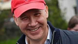 Valery Tsepkalo pictured in Minsk, Belarus, on May 26, 2020
