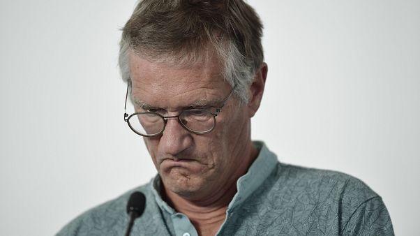 El epidemiólogo jefe sueco Anders Tegnell durante una rueda de prensa sobre el coronavirus, en Estocolmo, Suecia, el jueves 23 de julio de 2020.