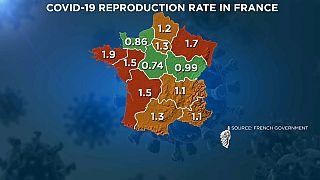 La mappa del rischio in Francia.