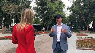 Waleri Zepkalo im Gespräch mit der Moskauer euronews-Korrespondentin Galina Polonskaja