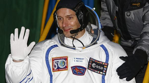 French astronaut Thomas Pesquet prior the launch of Soyuz-FG rocket at the Russian leased Baikonur cosmodrome, Kazakhstan, Nov. 17, 2016.