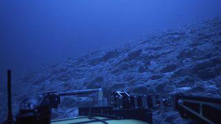 تصویری از یک زیردریایی تحقیقاتی در آبهای نزدیک جزیرهٔ سِشل، ۲۰۱۹