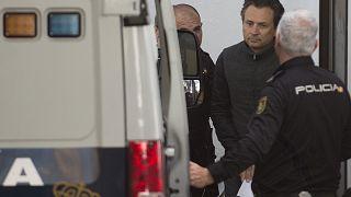 Emilio Lozoya tras su detención en España el pasado mes de febrero