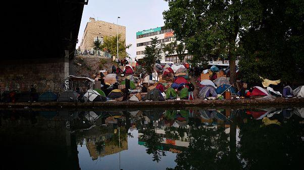 Das Camp in Aubervilliers vor der Räumung