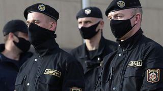 Белорусский ОМОН на улицах Минска. 15 июля