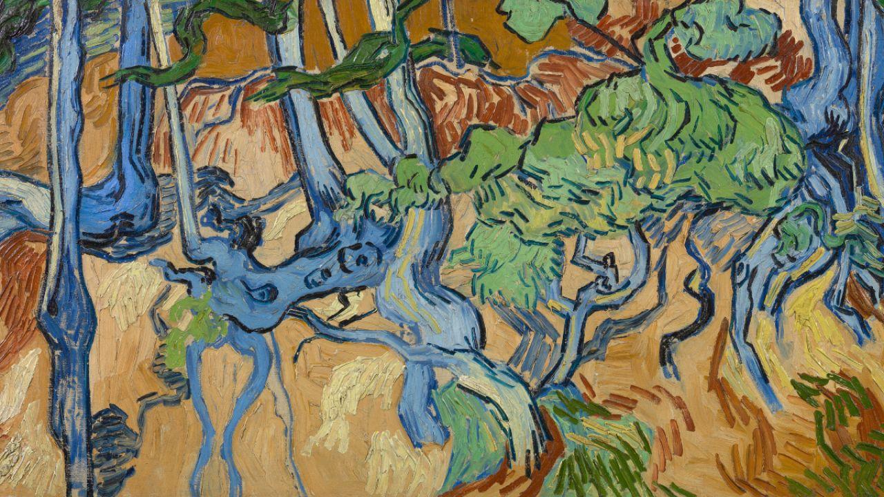 """""""Raízes de Árvores"""", de Vincent van Gogh (1890)"""