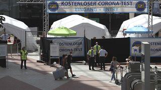 مركز ميداني لإجراء اختبارات كورونا في ألمانيا