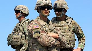US soldiers take part in NATO-led Noble Partner 2017 multinational military exercises at the military base of Vaziani, outside Tbilisi, Georgia.