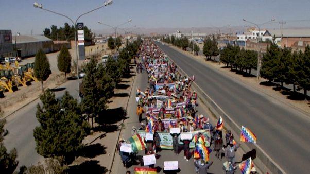 Manifestación este martes en El Alto, Bolivia.