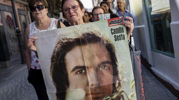 Fans de Camilo Sesto le rinden tributo en Madrid el 9 de septiembre de 2019